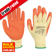 Builders Gloves Orange Large